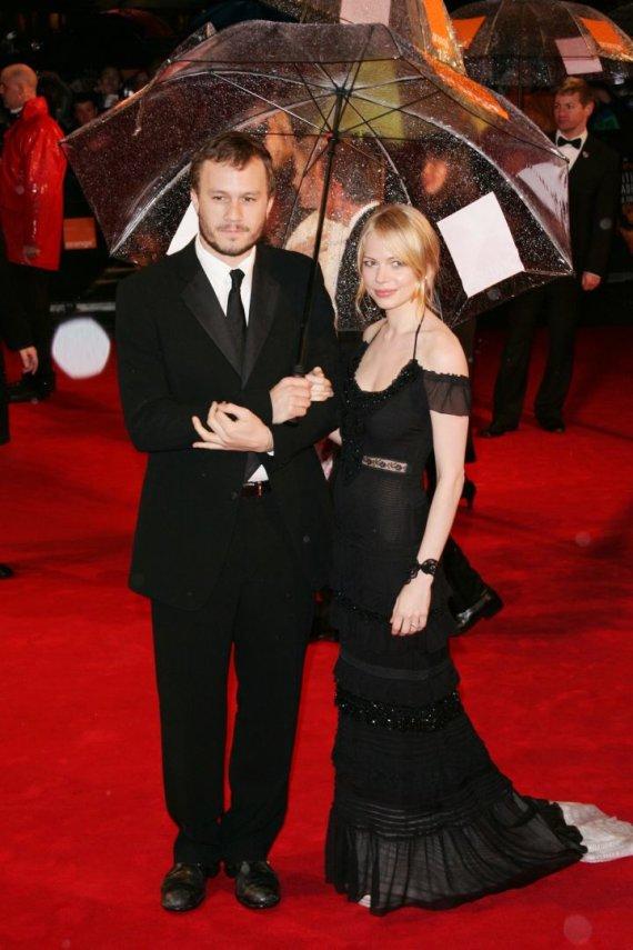 Vida Press nuotr./Aktoriai Heathas Ledgeris ir Michelle Williams