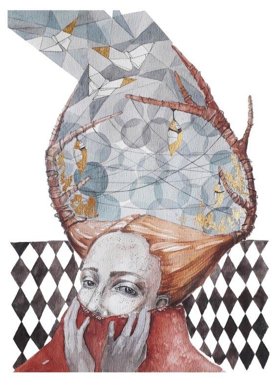 Asmeninio archyvo nuotr./Ingos Šimonytės-Deniz tapybos darbas