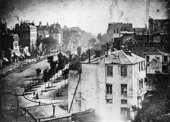 Wikimedia Commons / Public Domain nuotr./Louise'o Daguerro 1838 m. nuotrauka, kurioje pirmąkart užfiksuotas žmogus