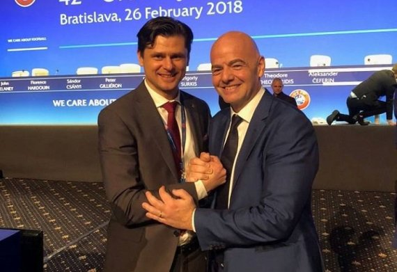 LFF nuotr./Tomas Danilevičius ir Gianni Infantino