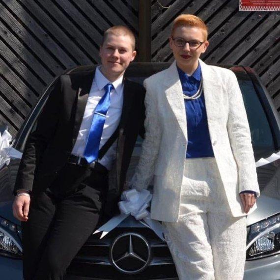 Asmeninio albumo nuotr./Mika Budrik su žmona Samanta