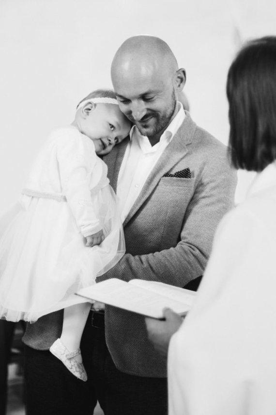 Deivido Bendžiaus nuotr. /Donatas Baumila su dukra Mėta