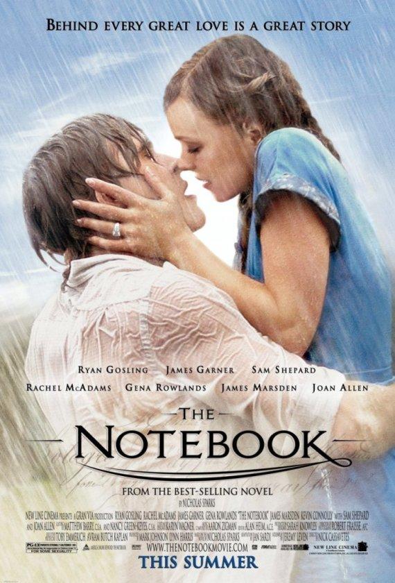 """Rachel McAdams ir Ryanas Goslingas filme """"Užrašų knygelė"""""""