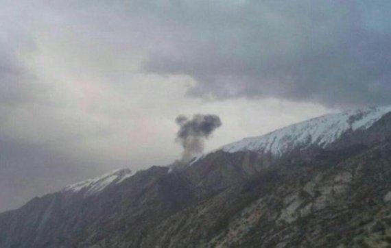 Twitter nuotr./Irane nukrito lėktuvas