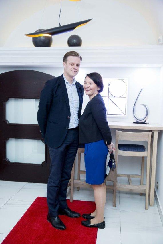 Irmanto Gelūno / 15min nuotr./Gabrielius Landsbergis su žmona Austėja Landsbergiene