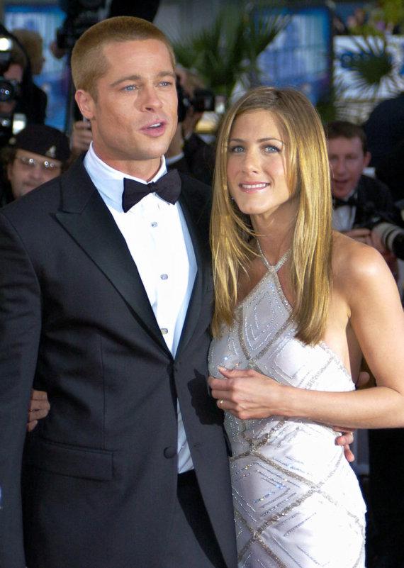 """""""Scanpix""""/AP nuotr./Jennifer Aniston ir Bradas Pittas 2004 metais"""