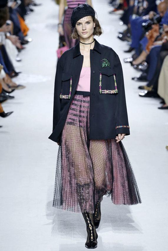 """Vida Press nuotr./Giedrė Dukauskaitė per """"Dior"""" kolekcijos pristatymą"""
