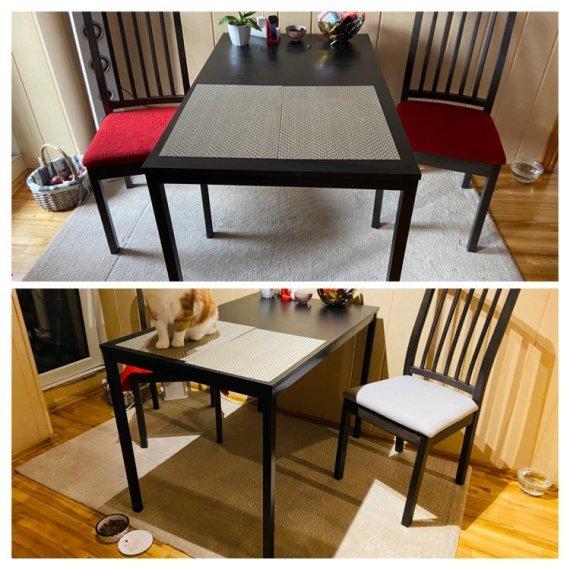 Asmeninio archyvo nuotr./Atnaujintos valgomojo stalo kėdės