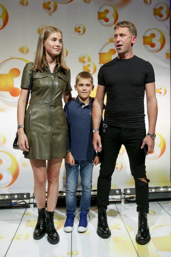 Irmanto Gelūno / 15min nuotr./Egidijus Dragūnas su sūnumi ir Kotryna Kozlovaitė
