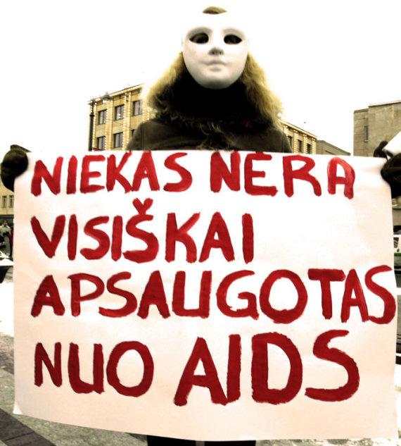 """""""15min"""" archyvo nuotr./AIDS Lietuvoje."""