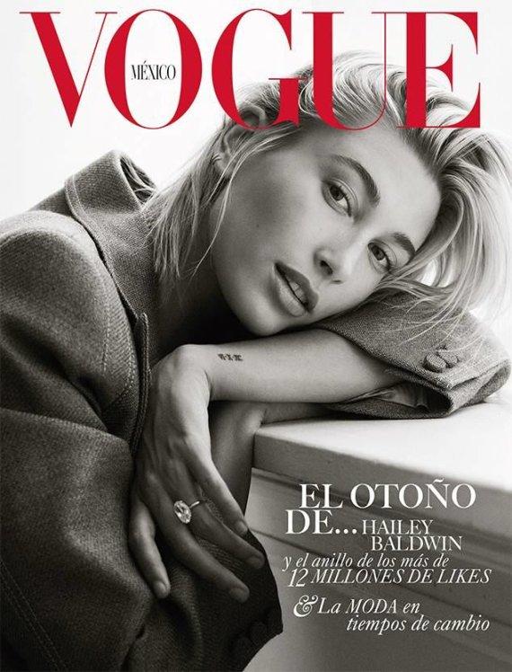 """""""Vogue""""/Bjorn Iooss nuotr./Hailey Baldwin"""