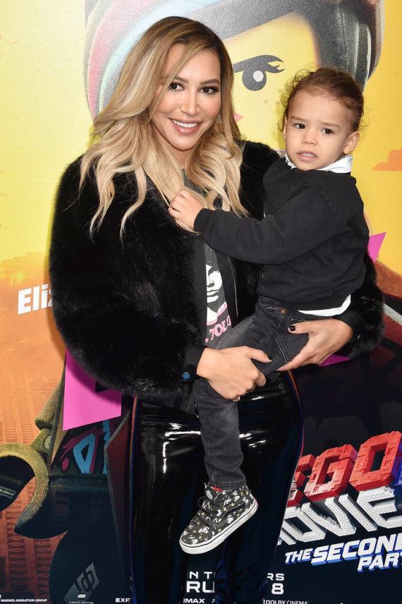 Vida Press nuotr./Aktorė Naya Rivera su sūnumi