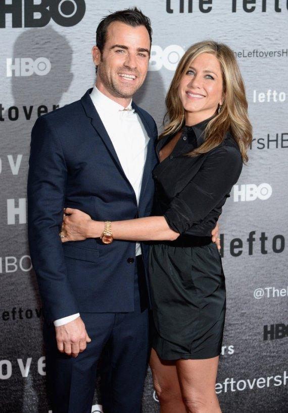 "AFP/""Scanpix"" nuotr./Justinas Theroux ir Jennifer Aniston"