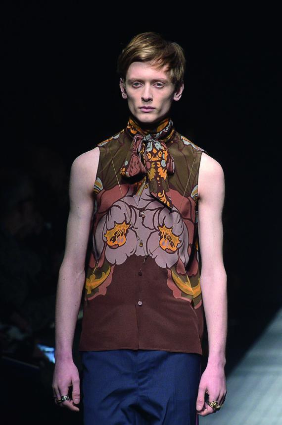 """Scanpix"" nuotr./Benas Drukteinis (""Gucci"" kolekcijos modelis)"