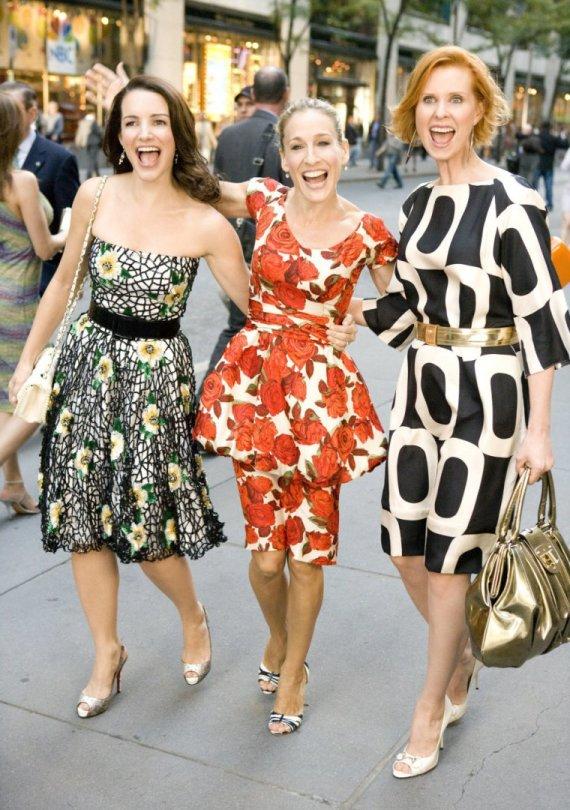 """Kadras iš filmo/Kristin Davis, Sarah Jessica Parker ir Cynthia Nixon filme """"Seksas ir miestas"""""""