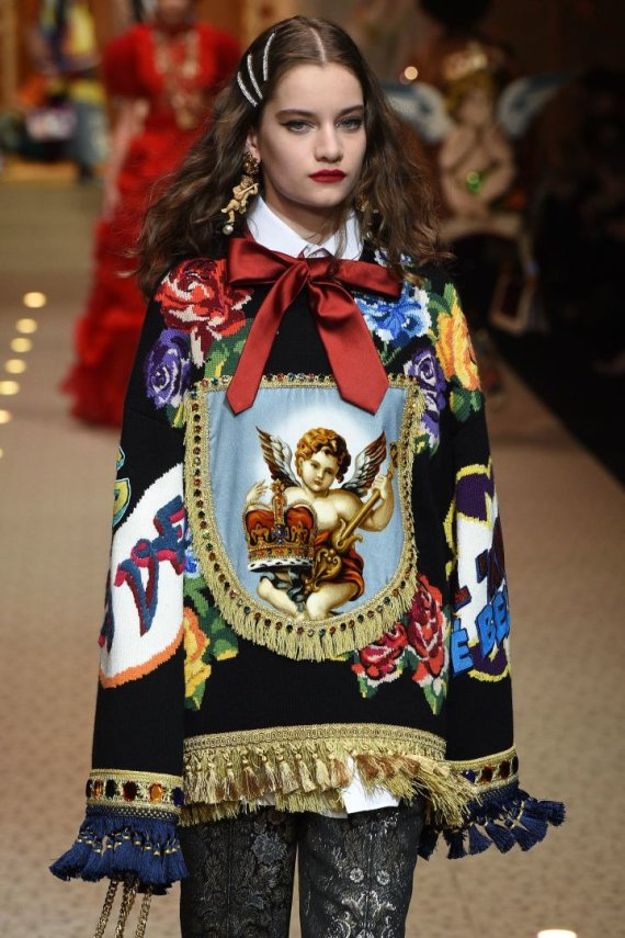 """Scanpix""/""SIPA"" nuotr./""Dolce & Gabbana"" kolekcijos modelis"