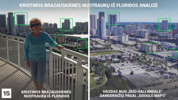 K.Brazauskienės asmeninio archyvo nuotr., publikuota alfa.lt ir Google Maps nuotr./Kristinos Brazauskienės nuotrauka išduoda jos buvimo vietą