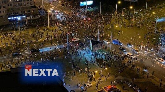 """""""Twitter"""" nuotr./""""NEXTA"""" padeda pasauliui matyti protestus Baltarusijoje"""