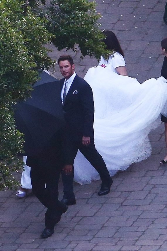 Vida Press nuotr./Chriso Pratto ir Katherine Schwarzenegger vestuvės
