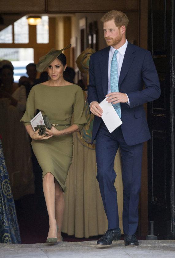 """""""Scanpix""""/AP nuotr./Sasekso hecogienė Meghan ir princas Harry"""