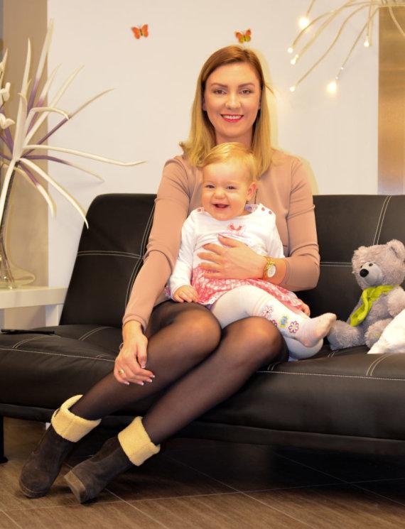 Asmeninio archyvo nuotr./Beata Antužė su dukryte