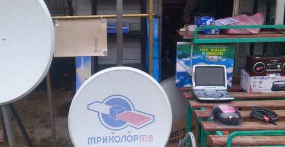 Gariūnuose – reidas prieš palydovinės TV įrangos pardavėjus