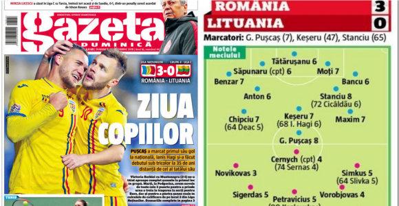 """Rumunijos žiniasklaida įvertino pergalę prieš Lietuvą: """"Neturėjote jokių šansų"""""""