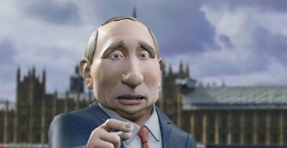 Virtualus Vladimiras Putinas ves pokalbių laidą per BBC