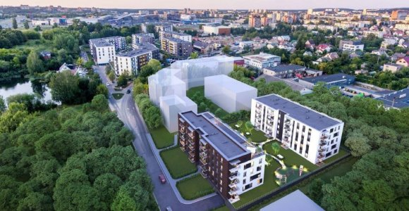 """""""Hanner"""" Vilniuje suplanavo 5 daugiabučių kvartalą be parkavimo vietų lauke"""