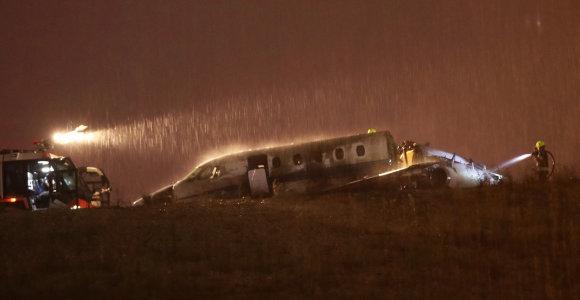 Stambulo pagrindiniame oro uoste sudužus privačiam lėktuvui sužeisti keturi žmonės