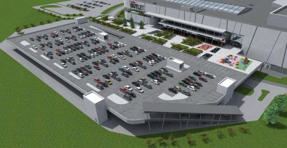 Prie naujo prekybos centro Pilaitėje – automobilių aikštelė miestui