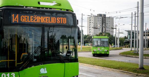 Kauno troleibusų parke – užsieniečių ekskursija