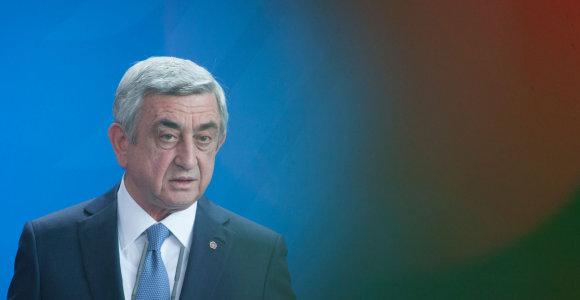 Buvęs Armėnijos prezidentas S.Sargsianas bus apklaustas dėl 2008-ųjų įvykių