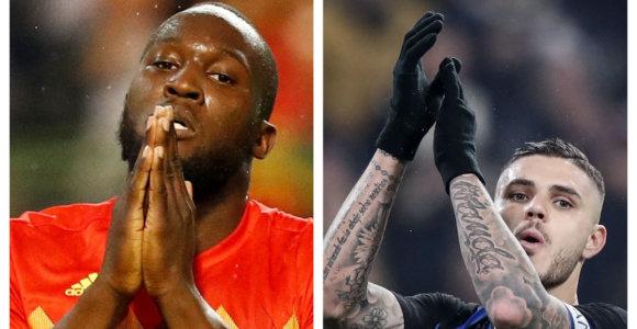 """""""Manchester United"""" ir Milano """"Inter"""" derėsis dėl norimų puolėjų"""