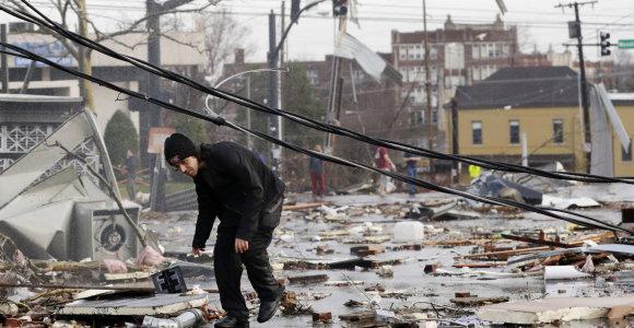 Tenesyje praūžę tornadai nusinešė mažiausiai 19 žmonių gyvybes