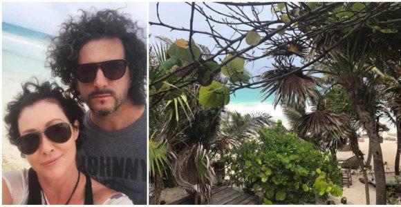 Vėžį išsigydžiusi Shannen Doherty džiaugiasi ataugusiais plaukais ir atostogomis Meksikoje