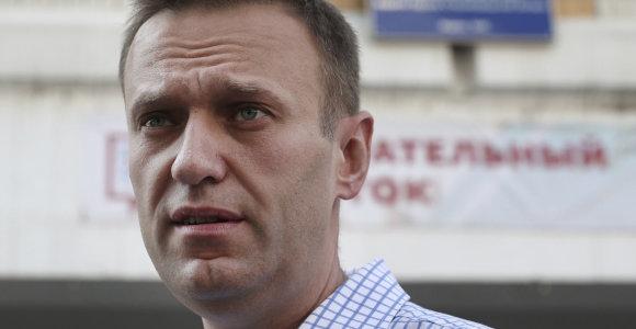 Rusijoje surengti masiniai reidai prieš opozicijos lyderį A.Navalną