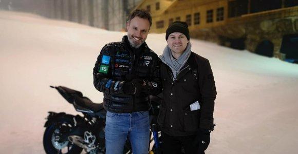 "Dar vienas Karolio Mieliausko debiutas: su triračiu motociklu prieš ""BBC Travel"" kameras"