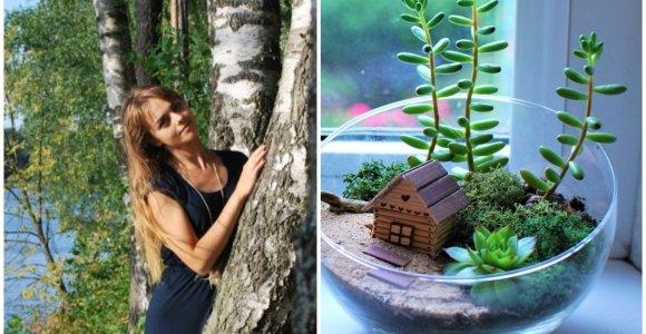 Miniatiūrinius sodus kurianti Indrė: niekada neturiu aiškios vizijos, kaip atrodys baigtas darbas