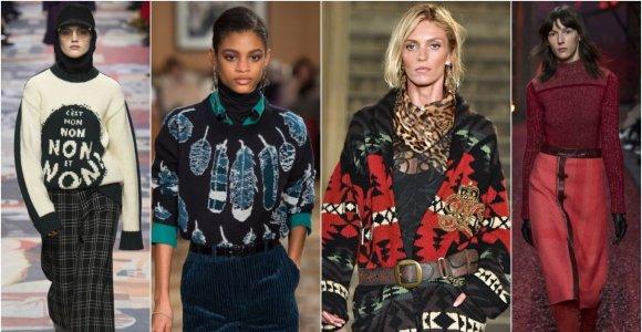 Madingiausi šaltojo sezono megztiniai: nuo golfų iki kašmyrinių, didelių ir margų
