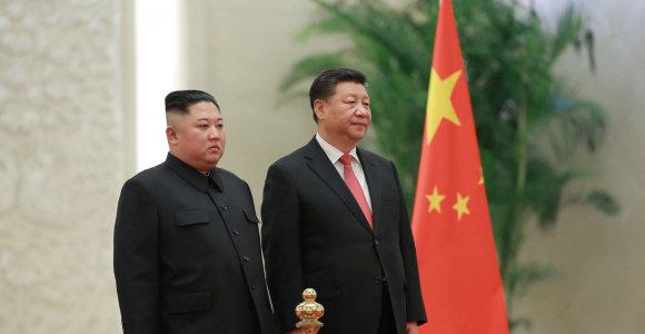 JT sankcijos smukdo Kinijos ir Šiaurės Korėjos tarpusavio prekybą