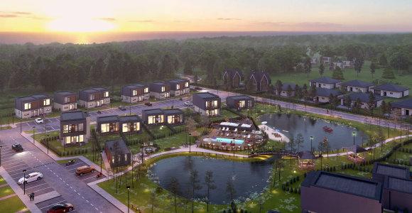 Palangoje kyla ambicingas NT projektas: kvartalo gyventojams – privatus paplūdimys ir baseinas kieme