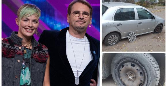"""Vilniuje subadytos """"X faktoriaus"""" finalininkės automobilio padangos: """"Tai – kerštas"""""""