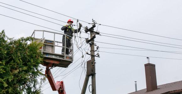 Po audros elektros energijos vis dar neturi 1,7 tūkst. ESO klientų