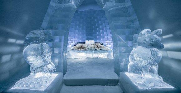 Pasirodė nuotraukos, kaip šiemet atrodys žymusis ledo viešbutis