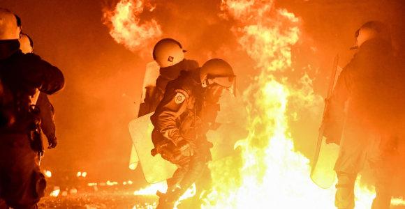 Graikijoje per protestus sulaikyta daugiau nei 100 žmonių
