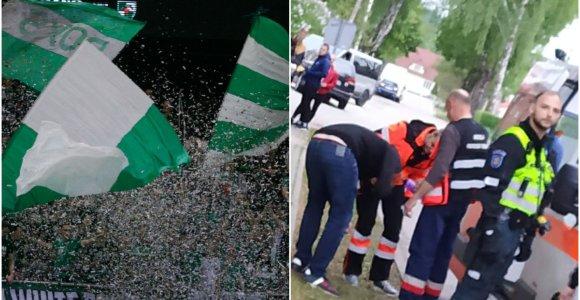 """""""Žalgirio"""" sirgalių vizitas Alytuje: užsidengė veidus ir puolė futbolo aistruolius"""