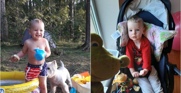 Tėvai išgyveno siaubą: per kelias savaites sveikas 1,5 metų Marijonas virto 3 mėnesių kūdikiu