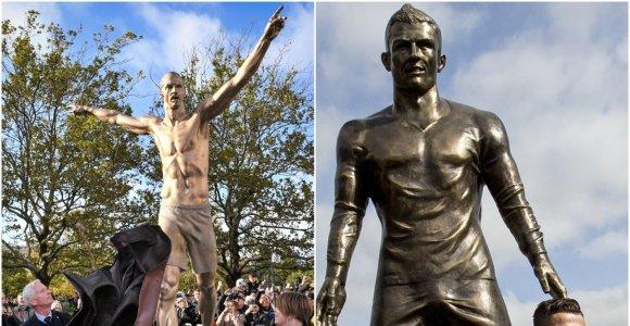 Įspūdis dėl Z.Ibrahimovičiaus statulos – rūbų mažai, bet geriau nei C.Ronaldo