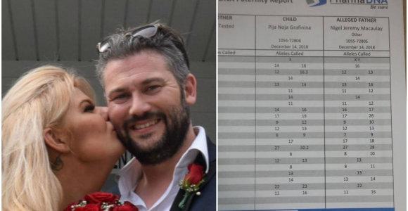 Nigelas Westas sulaukė DNR atsakymų: jis – oficialus Sandros Grafininos dukters tėvas